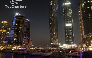 Dubai Marina Walk Yachts at Night 6