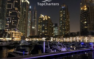 Dubai Marina Walk Yachts at Night 7