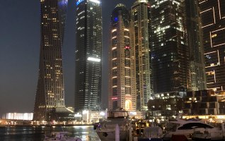 Dubai Marina Walk Yachts at Night 10
