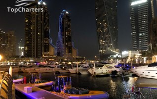Dubai Marina Walk Yachts at Night 9