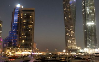 Dubai Marina Walk Yachts at Night 11