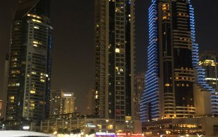 Dubai Marina Walk Yachts at Night 8