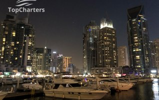 Dubai Marina Walk Yachts at Night 12