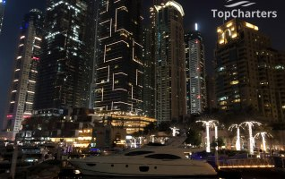Dubai Marina Walk Yachts at Night 14